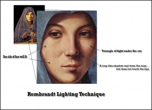 Example of Rembrandt Lighting